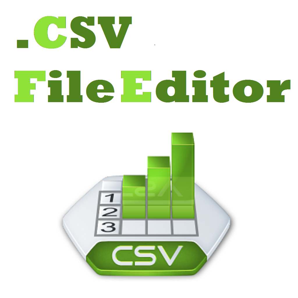 Csv File Editor with Import Option from Excel  .xls, .xlsx, ....